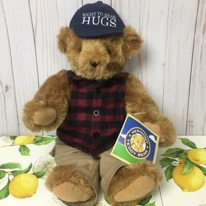 Vermont Teddy Bear Fully Jointed Right to be Hugs